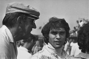 Francois Cevert, Tyrrell, March 701, mit Ken Tyrrell