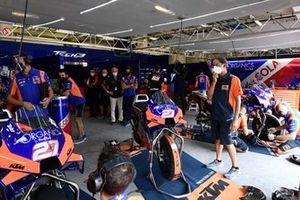Tech3 KTM garage
