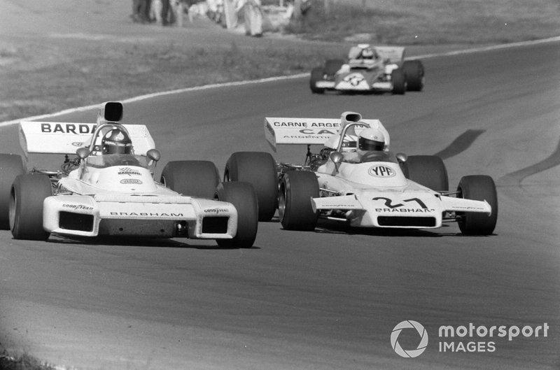 Wilson Fittipaldi, Brabham BT34 Ford y Carlos Reutemann, Brabham BT37 Ford