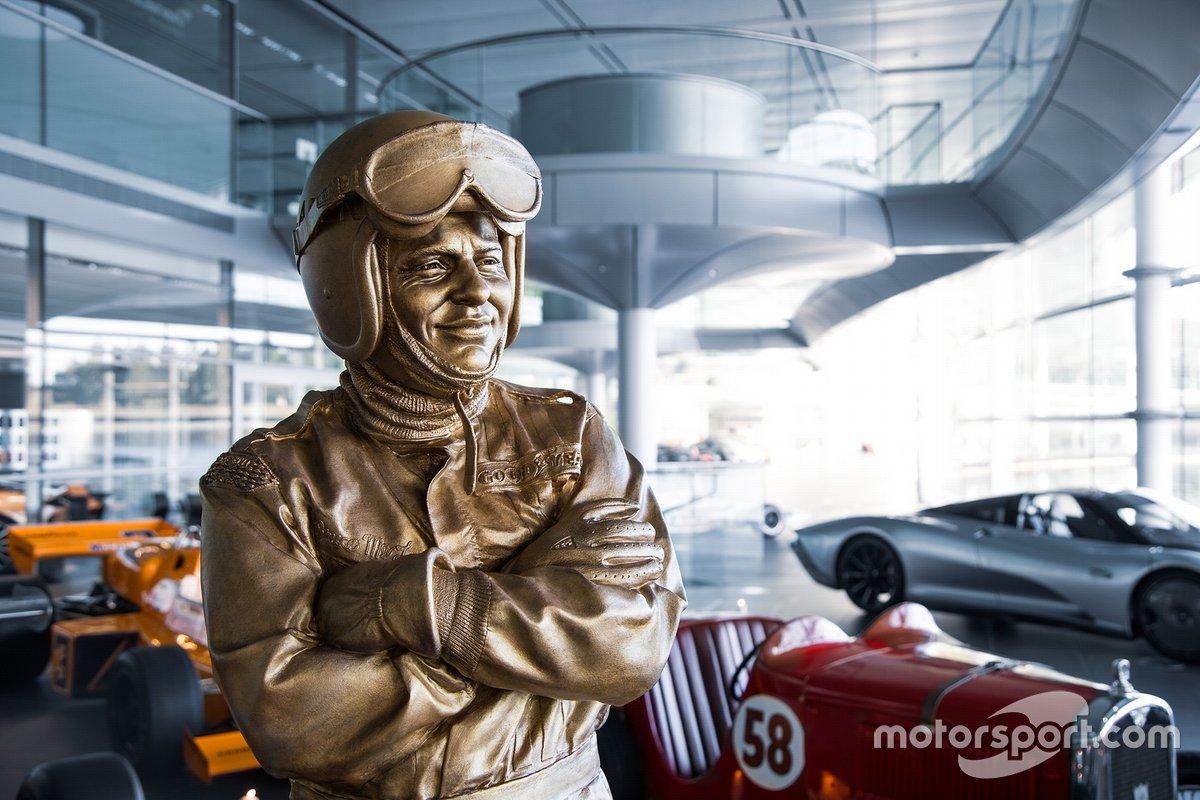 The statue of Bruce McLaren