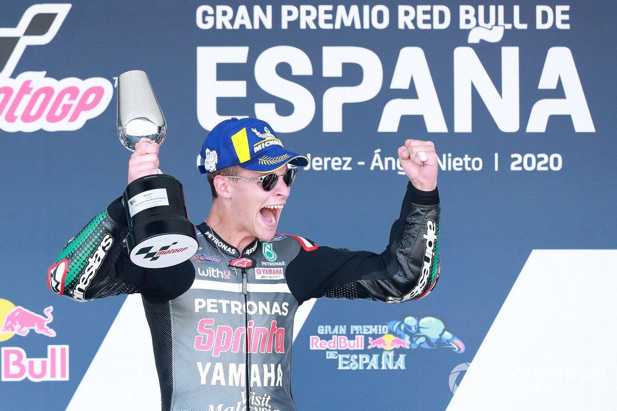Fabio Quartararo, Petronas Yamaha SRT, vince la gara