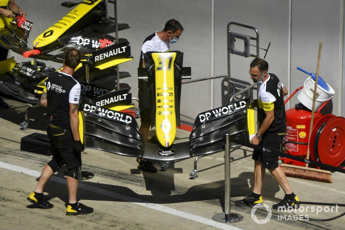 El morro del coche de Esteban Ocon, Renault F1 Team R.S.20