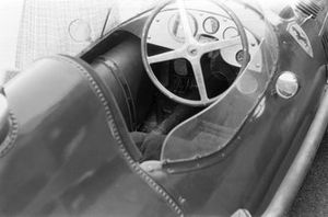 The cockpit of Peter Collins, Ferrari Dino 156