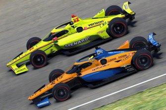 Lando Norris, Arrow McLaren SP, Simon Pagenaud, Team Penske