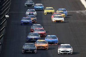 Aric Almirola, Stewart-Haas Racing, Ford Mustang, Brad Keselowski, Team Penske, Ford Mustang