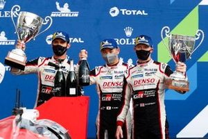 Podium: #7 Toyota Gazoo Racing Toyota TS050: Mike Conway, Kamui Kobayashi, Jose Maria Lopez