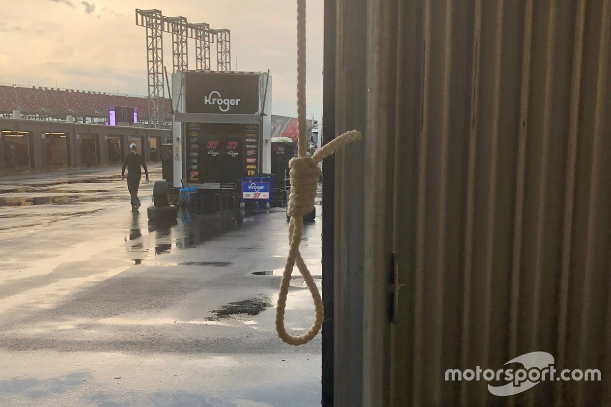 The noose found in the No. 43 garage