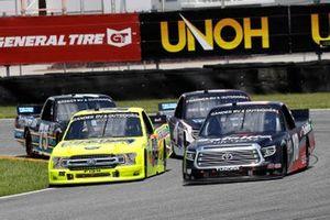 Christian Eckes, Kyle Busch Motorsports, Toyota Tundra Safelite AutoGlass and Matt Crafton, ThorSport Racing, Ford F-150 Ideal Door/Menards