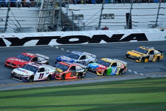 Denny Hamlin, Joe Gibbs Racing, Toyota Camry FedEx Express, Martin Truex Jr., Joe Gibbs Racing, Toyota Camry Bass Pro Shops, Kyle Busch, Joe Gibbs Racing, Toyota Camry M&M's, Erik Jones, Joe Gibbs Racing, Toyota Camry DeWalt