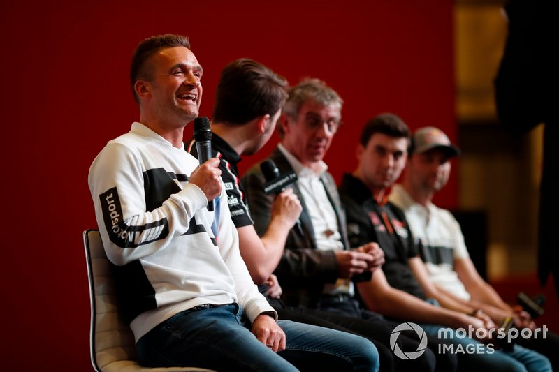 BTCC drivers Colin Turkington, Tom Ingram, Jason Plato, Dan Cammish and Andrew Jordan are interviewed on the Autosport stage