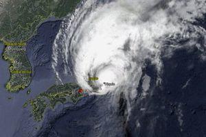 Tufão Hagibis sobre o Japão - Imagem de Google Earth