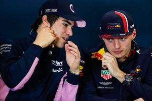 Press conference, Lance Stroll, Racing Point, and Max Verstappen, Red Bull Racing
