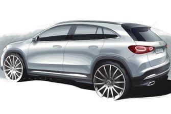 Bozzetto Ufficiale della Mercedes GLA