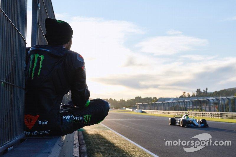 Lewis Hamilton, Valentino Rossi, Mercedes-AMG F1 W08