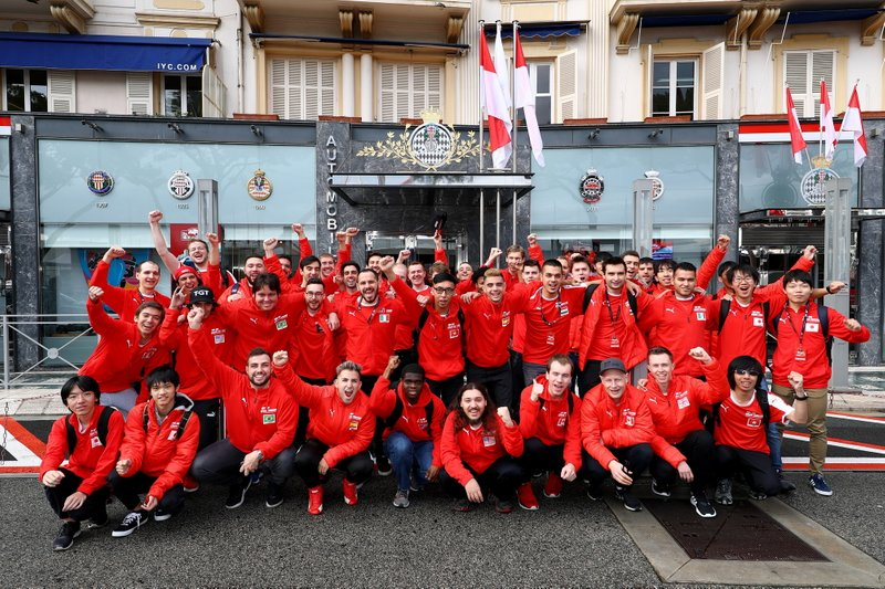 Competitors visit the Automobile Club de Monaco