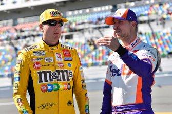 Denny Hamlin, Joe Gibbs Racing, Toyota Camry FedEx Express and Kyle Busch, Joe Gibbs Racing, Toyota Camry M&M's