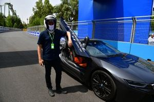 Media Laps in the BMW i8 Safety car