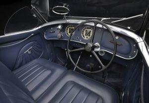 Habitacle de l'Alfa Romeo 2900 8C Lungo Spider 1939