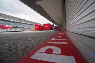 Preparations for F1 at Autodromo Hermanos Rodriguez