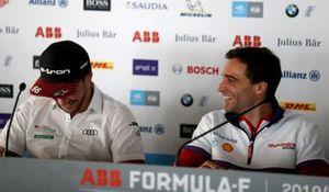 Daniel Abt, Audi Sport ABT Schaeffler, tijdens een persconferentie