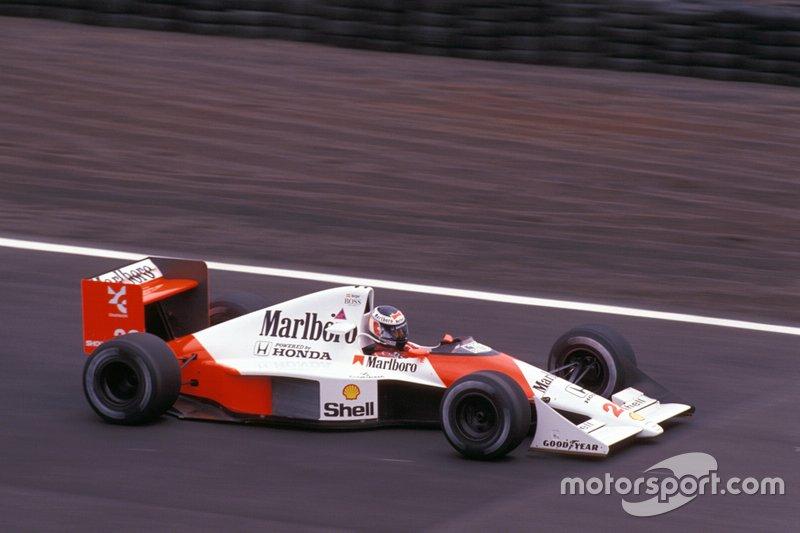Gerhard Berger, McLaren MP4-5B Honda, al GP del Messico del 1990