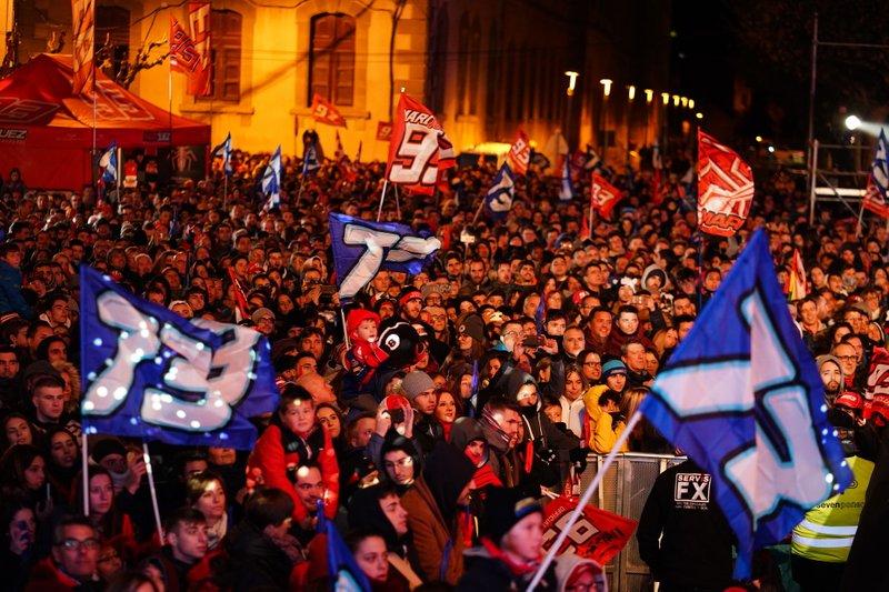 Fans von Marc Marquez und Alex Marquez in Cervera