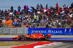 Sebastian Vettel, Ferrari SF90, retires with broken suspension