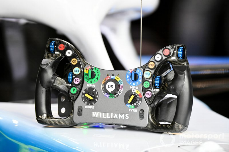 The steering wheel from the Williams FW42