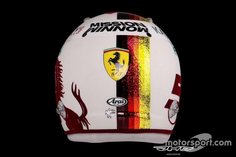 El casco de Sebastian Vettel, Ferrari, para el GP de Brasil