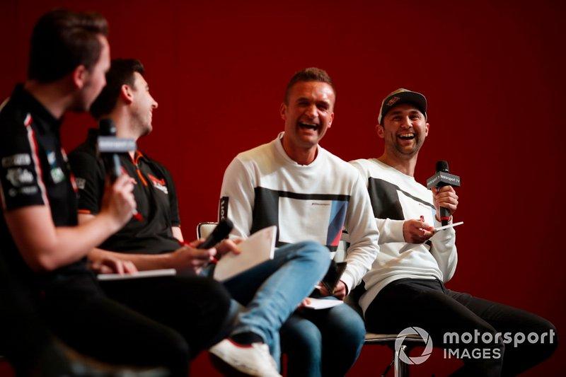 BTCC drivers Tom Ingram, Dan Cammish, Colin Turkington and Andrew Jordan are interviewed on the Autosport stage
