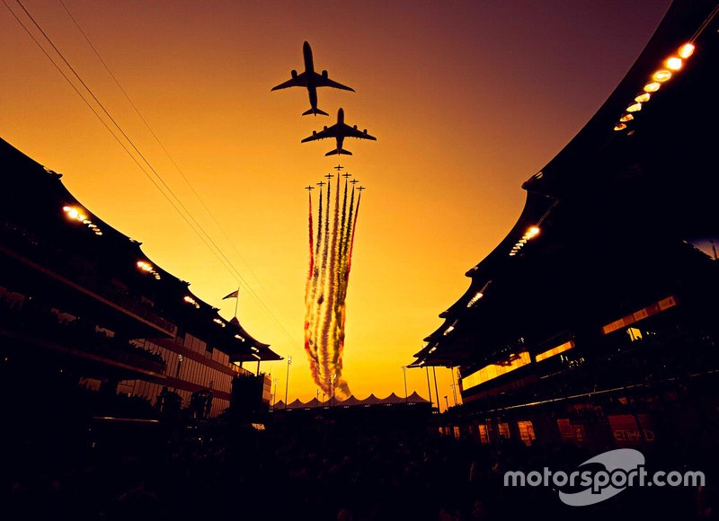 Planes flying over main straight