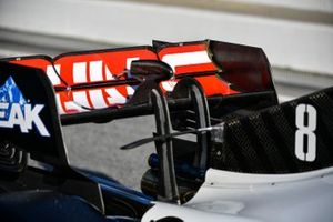 Rear wing detail of a Haas VF-20
