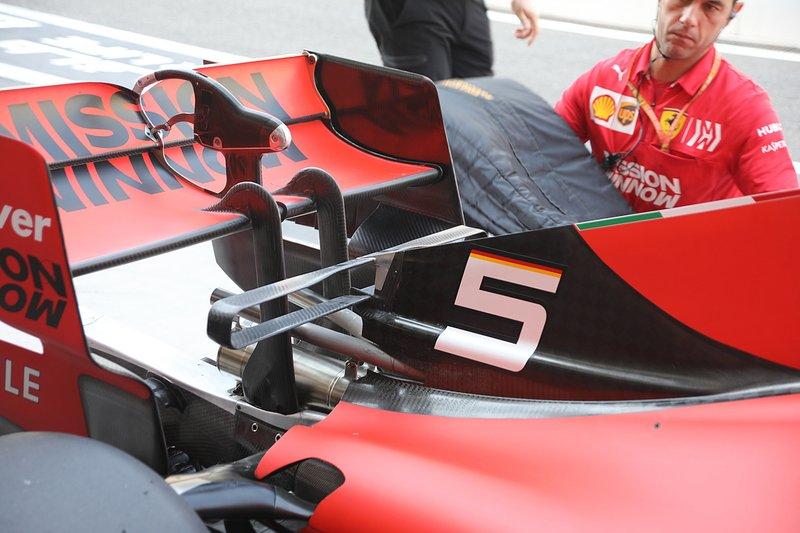 Ferrari SF90, dettaglio dell'ala posteriore
