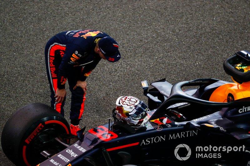 Max Verstappen, Red Bull Racing, sulla griglia dopo le qualifiche
