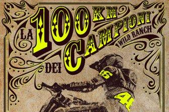 Logo: 100 Kilometer der Champions auf der VR46 Motor Ranch von Valentino Rossi in Tavullia