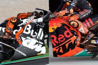 Vergelijking van de KTM RC16-chassis