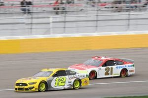 Ryan Blaney, Team Penske, Ford Mustang Menards/Pennzoil, Matt DiBenedetto, Wood Brothers Racing, Ford Mustang Motorcraft/Quick Lane