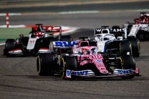 Sergio Perez, Racing Point RP20, Jack Aitken, Williams FW43, and Pietro Fittipaldi, Haas F1 Haas VF-20