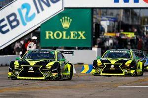 #12 VasserSullivan Lexus RC F GT3, GTD: Robert Megennis, Zach Veach, Frankie Montecalvo