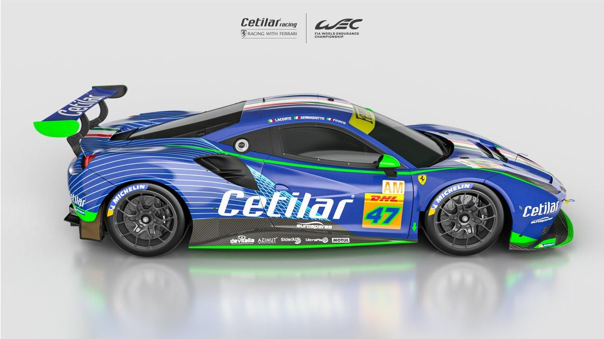 #47 Cetilar Racing-AF Corse, Ferrari 488 GTE Evo: Giorgio Sernagiotto, Roberto Lacorte, Antonio Fuoco