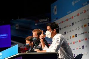 Nyck de Vries, Mercedes Benz EQ, Sam Bird, Jaguar Racing, Lucas Di Grassi, Audi Sport ABT Schaeffler, in the Press Conference