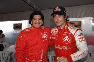 Diego Maradona and Sebastien Loeb, Citroen