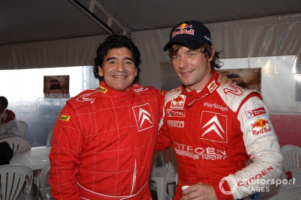 Diego Maradona y Sebastien Loeb, Citroen
