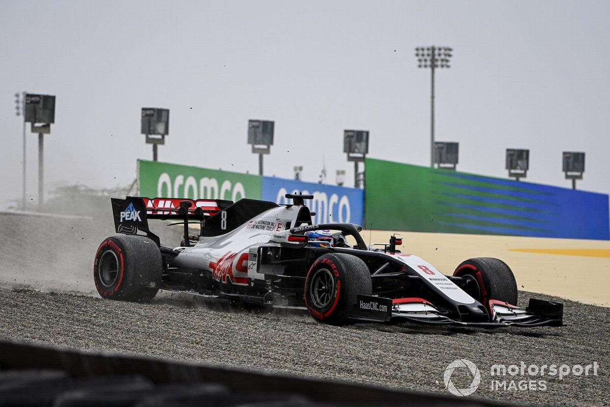 Romain Grosjean, Haas VF-20, nella sabbia