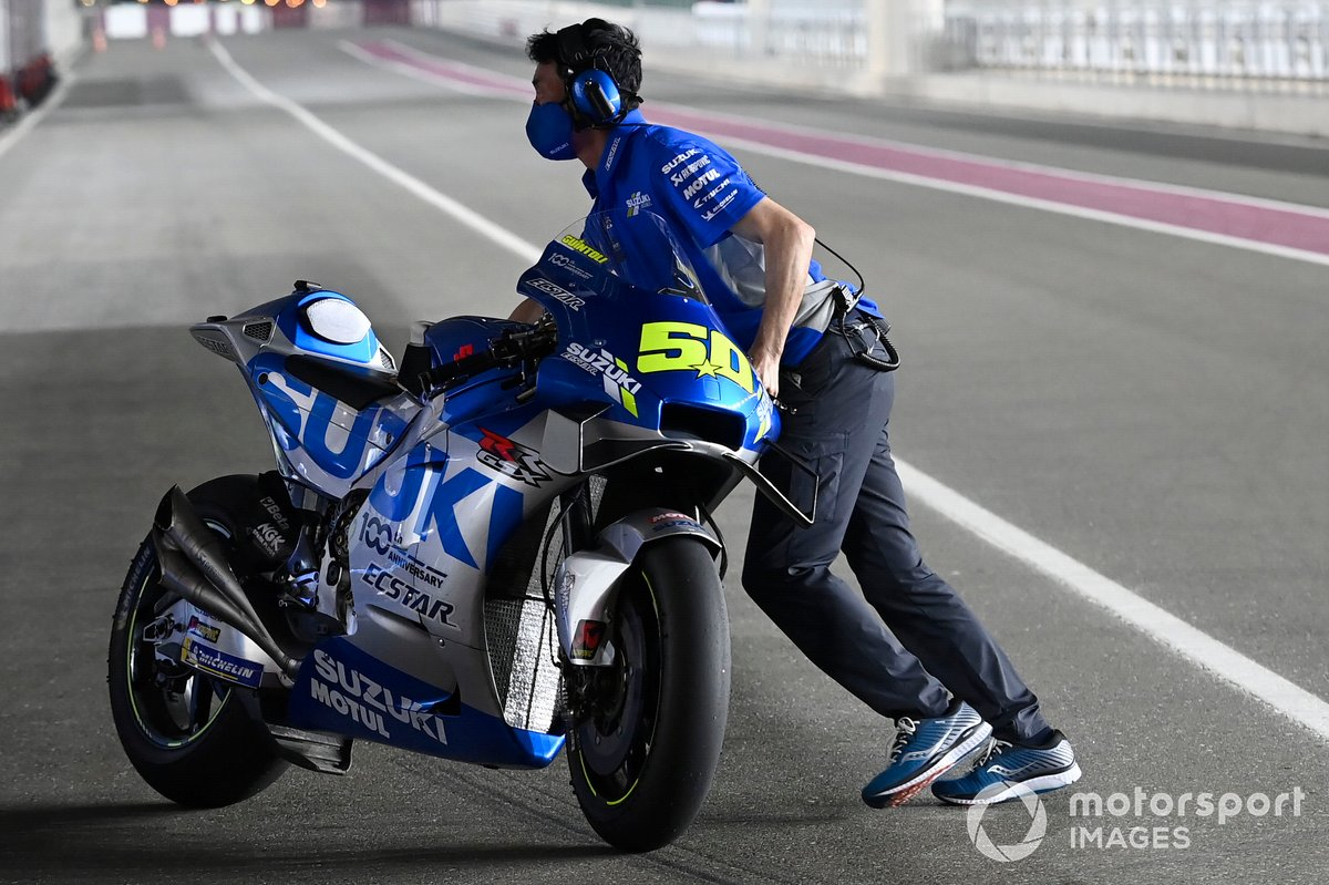La moto di Sylvain Guintoli, Team Suzuki MotoGP