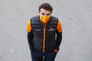 Lando Norris, McLaren in the paddock