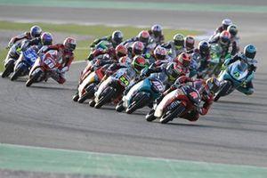 Moto3-Action in Losail: Gabriel Rodrigo, Team Gresini Moto3, führt
