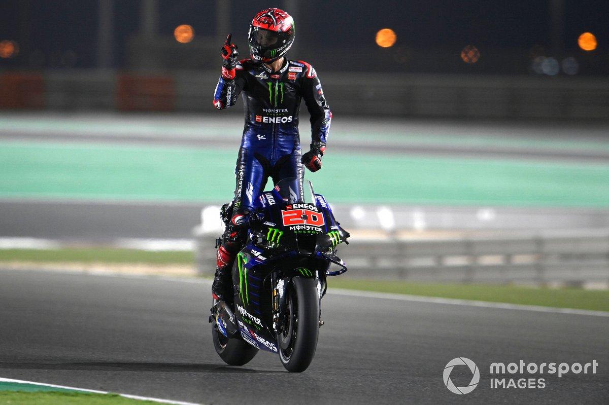Il vincitore del Gran Premio di Doha, Fabio Quartararo, Yamaha Factory Racing