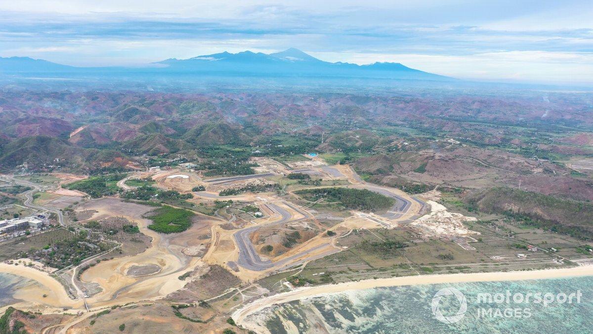 Obras en el Mandalika International Sreet Circuit, de Indonesia