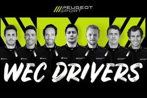 Peugeot drivers line-up